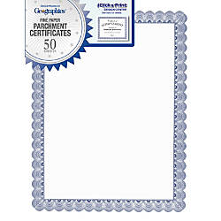 Geographics Conventional Blue Certificate 24 lb