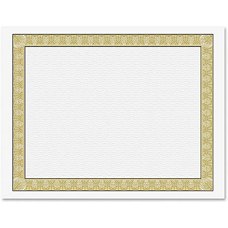 """Geographics Natural Diplomat Certificates, 11"""" x 8-1/2"""", 24 Lb, Gold/White, Pack Of 50"""