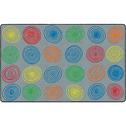 Flagship Carpets Circles Rug Rectangle 7