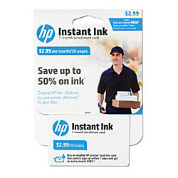 HP Instant Ink Enrollment Webplan 50