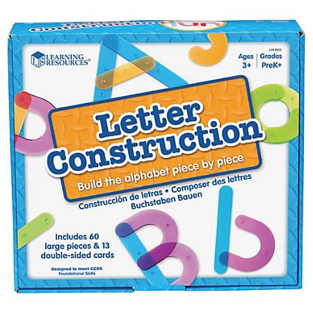 Learning Resources® Letter Construction Activity Set, Pre-K - Grade 4