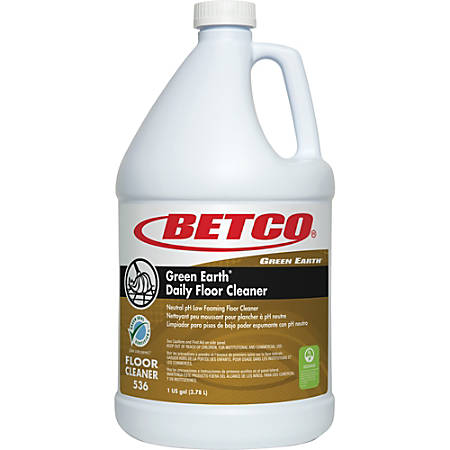 Green Earth Daily Floor Cleaner - Concentrate Liquid - 1 gal (128 fl oz) - 1 Each - Yellow