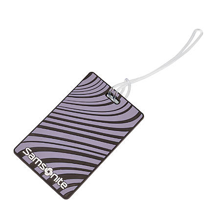 Samsonite® ID Tags, Designer, Lavender, Pack Of 2