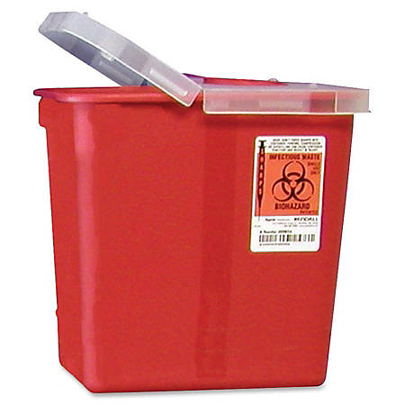 Unimed Kendall Sharps Container With Lid, 2 Gallons