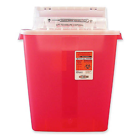 Unimed Sharpstar Transparent Containers With Counter Balanced Lid Refills, 3 Gallons