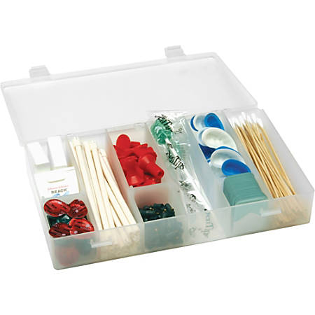 """Unimed Solvent-Resistant Infinite Divider Storage Box, 6-12 Compartments, 1 3/4""""H x 11""""W x 6 3/4""""D"""