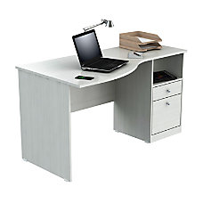 computer desks at office depot officemax inval laura curved top computer desk 50