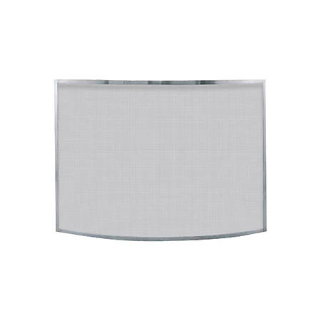 UniFlame Single Panel Curved Pewter Finish Screen