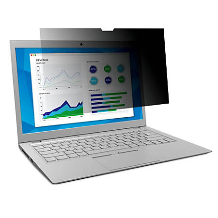 """3M™ Privacy Filter Screen for Laptops, 14.1"""" Standard (4:3), Reduces Blue Light, PF141C3B"""