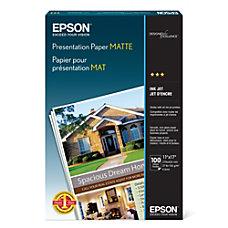 Epson Presentation Paper Matte 11 x