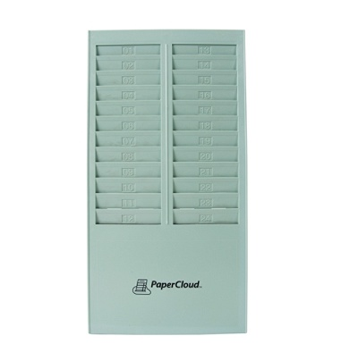 papercloud time card rack 24 pockets 164 h x 82 w x 14 d gray pctcr24 by office depot officemax - Card Rack