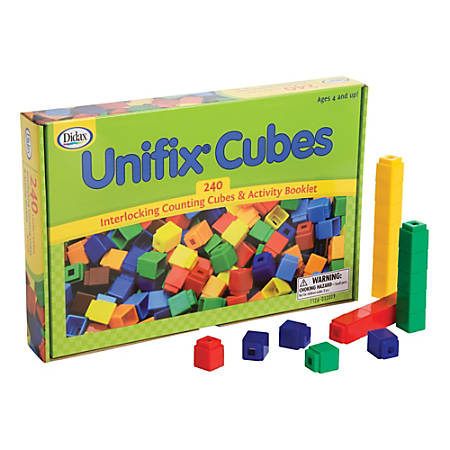 Didax Unifix® Cubes For Pattern Building, Multicolor, Pack Of 240
