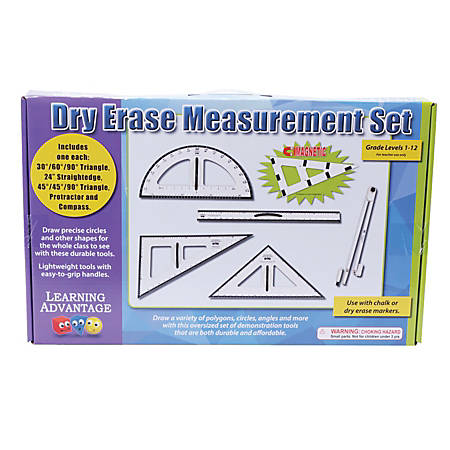 Learning Advantage Dry-Erase Magnetic Measurement Set, Black/White