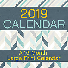 DateWorks 16 Month Monthly Decorative Wall