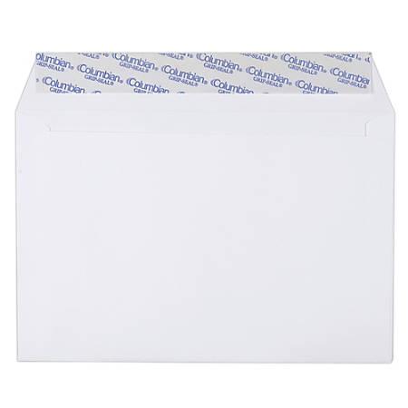 "Quality Park® Grip-Seal® Booklet Envelopes, 24 Lb., 6"" x 9"", White, Pack Of 250"