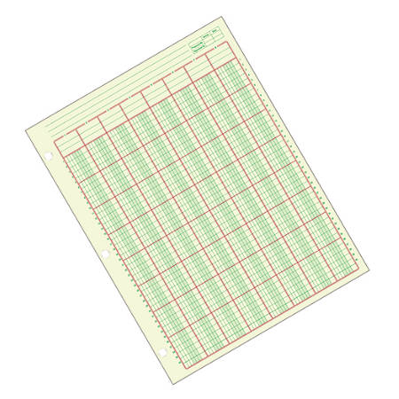 "Adams® Analysis Pad, 8 1/2"" x 11"", 100 Pages (50 Sheets), 8 Columns, Green"