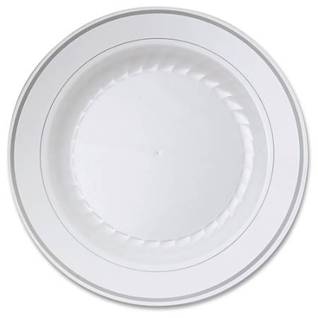 """Masterpiece WNA Comet Round Plate - 10.25"""" Diameter Plate - Plastic - Disposable - White - 10 Piece(s) / Pack"""