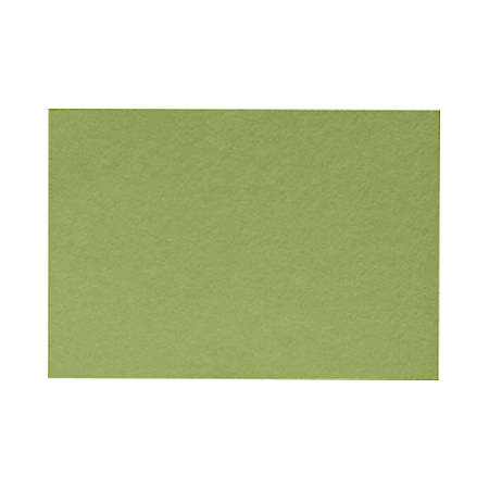 "LUX Mini Flat Cards, #17, 2 9/16"" x 3 9/16"", Avocado Green, Pack Of 50"