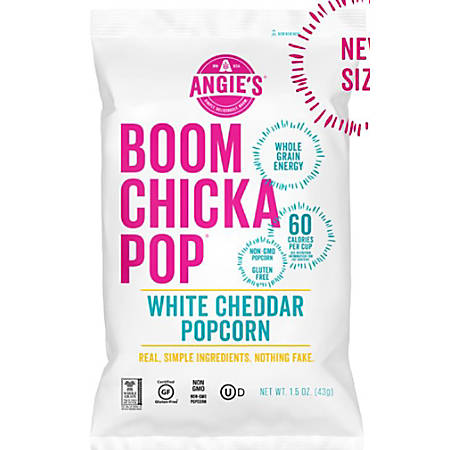 Angie's BOOMCHIKAPOP White Cheddar Popcorn, 1.5 Oz Bag