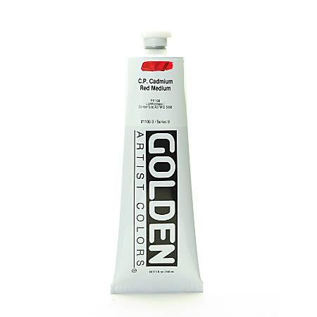 Golden Heavy Body Acrylic Paint, 5 Oz, Cadmium Red Medium (CP)