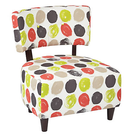 Ave Six Boulevard Chair, Brushed Dot Poppy/Dark Espresso