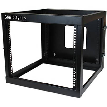 StarTech.com 8U 22in Depth Hinged Open Frame Wallmount Server Rack
