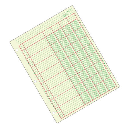 "Adams® Analysis Pad, 8 1/2"" x 11"", 100 Pages (50 Sheets), 4 Columns, Green"