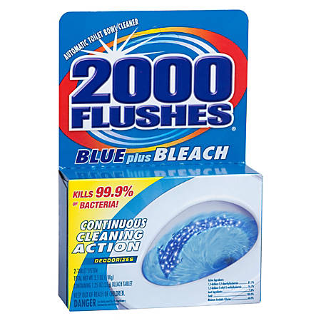 2000 Flushes® Blue Plus Bleach Bowl Cleaner, 3.5 Oz.