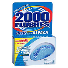 2000 Flushes Blue Plus Bleach Bowl