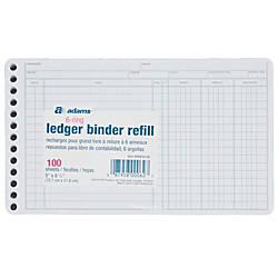 Adams Ledger Sheets 5 x 8