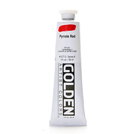 Golden Heavy Body Acrylic Paint, 2 Oz, Pyrrole Red
