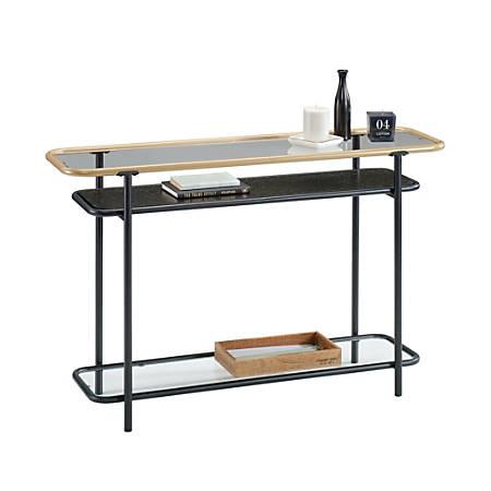 Sauder® Boulevard Cafe Console Table, Black/Copper