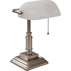 Lorell LED Classic Bankers Lamp Frosted