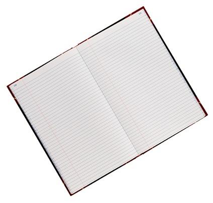 office depot brand hardbound book 11 34 x 7 14 record ruling 300