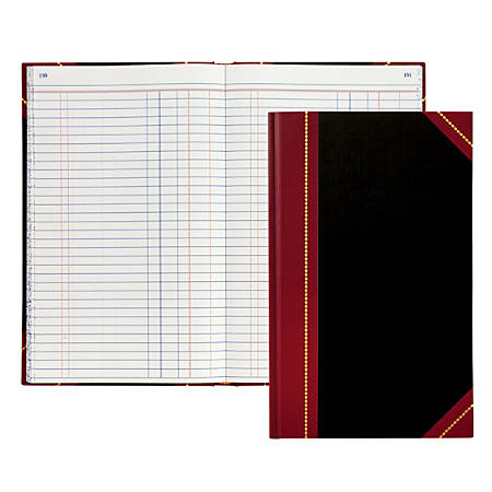 """Office Depot® Brand Hardbound Book, 11 3/4"""" x 7 1/4"""", Journal, Single Entry Ledger Ruling, 300 Pages (150 Sheets)"""