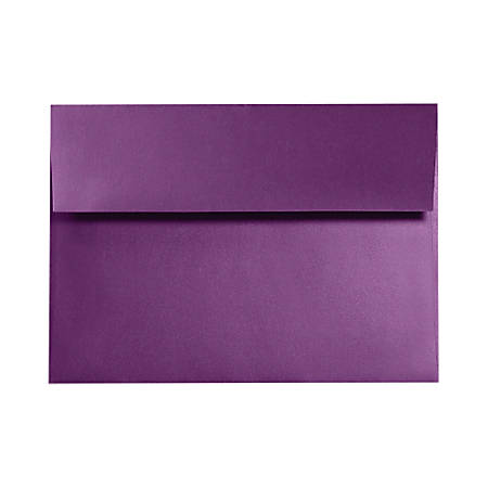 "LUX Invitation Envelopes With Moisture Closure, A7, 5 1/4"" x 7 1/4"", Purple Power, Pack Of 50"