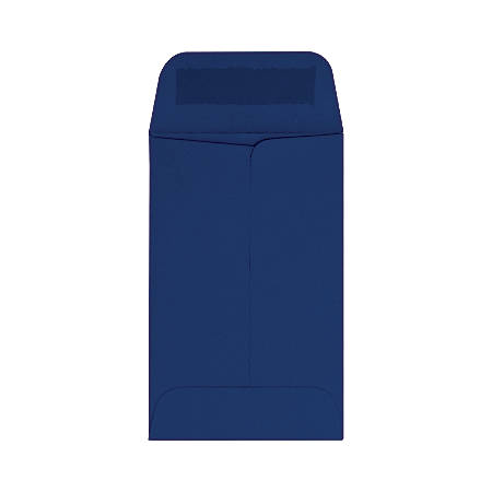 """LUX Coin Envelopes, #1, 2 1/4"""" x 3 1/2"""", Navy, Pack Of 50"""