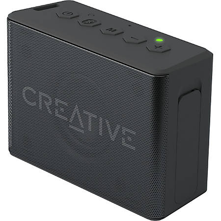 Creative Halo Portable Bluetooth Speaker System - Black - Battery Rechargeable