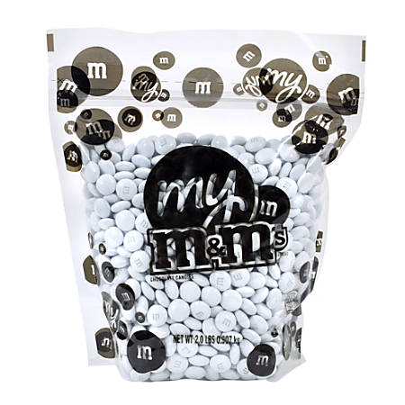M&M's® Single-Color Candies, White, 2 Lb Bag