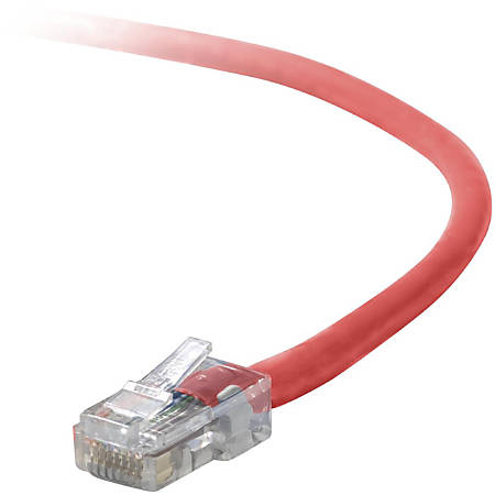 Belkin Cat. 5E UTP Patch Cable - RJ-45 Male - RJ-45 Male - 8ft - Red