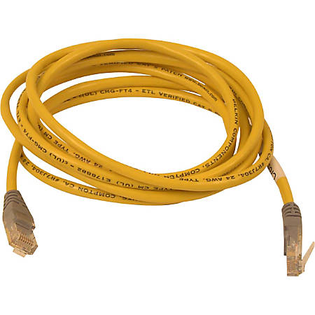 Belkin Cat5e Crossover Cable - RJ-45 Male Network - RJ-45 Male Network - 14ft - Yellow