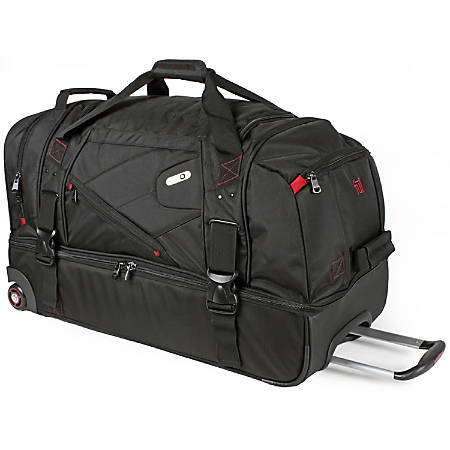 ful Tour Manager Deluxe Rolling Duffel Bag, Black