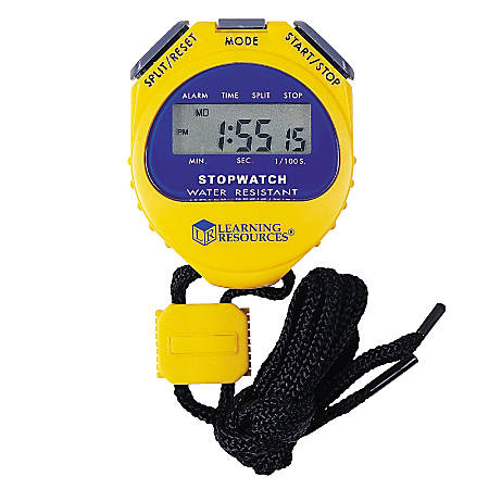 Learning Resources Big Digit Stopwatch, Yellow/Purple, Pack Of 2