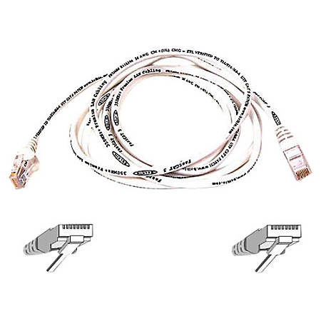 Belkin Cat.6 Snagless Patch Cable - RJ-45 - RJ-45 - 20ft - White