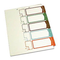 SJ Paper Side Tab Table Of
