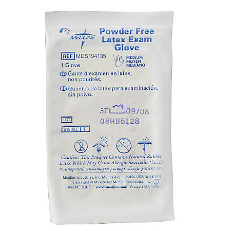 Medline Disposable Powder-Free Latex Exam Gloves, Small, Beige, Pack Of 400