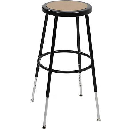 "Ergotron Classroom Stool - Fiberboard Seat - Steel Frame - Four-legged Base - Black, Chrome - Metal - 17"" Width x 17"" Depth x 32.5"" Height"