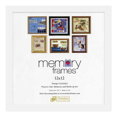 Timeless Frames Anna Memory Frame 12 x 12 White by Office Depot ...