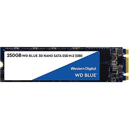 WD Blue 3D NAND 250GB Internal Solid State Drive, SATA III, WDS250G2B0B