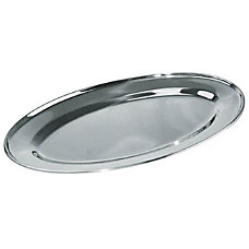 Winco Oval Stainless Steel Platter 12